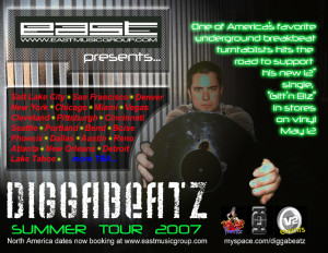 Digga 2007 Summer tour virtual flyer myspace jpeg