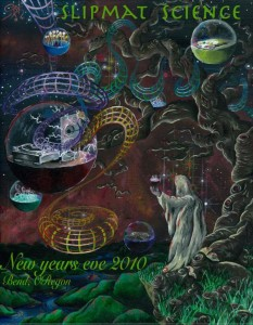 Slipmat Science NYE Bend Oregon flyer front