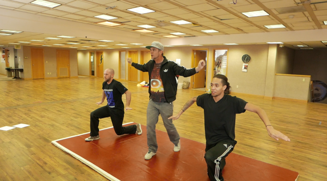 Diggabeatz Dance Rehearsal for The Wind Up music video with E-Boogie and Robot Rob