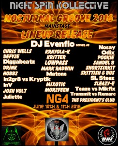 Nocturnal Groove 2016 flyer