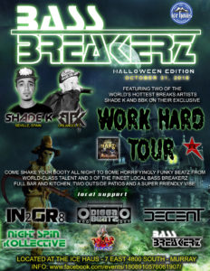 Bass Breakerz Halloween 2016 flyer 1