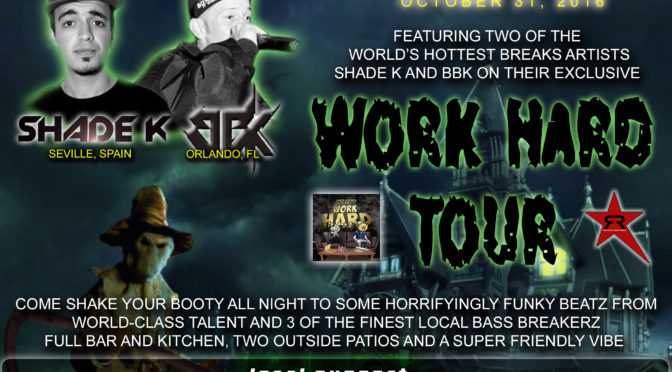 Bass Breakerz Halloween 2016 feat. Shade K and BBK on their Work Hard Tour